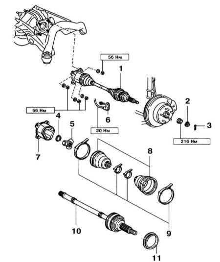 9.4 Снятие, разборка, сборка и установка задних приводных валов