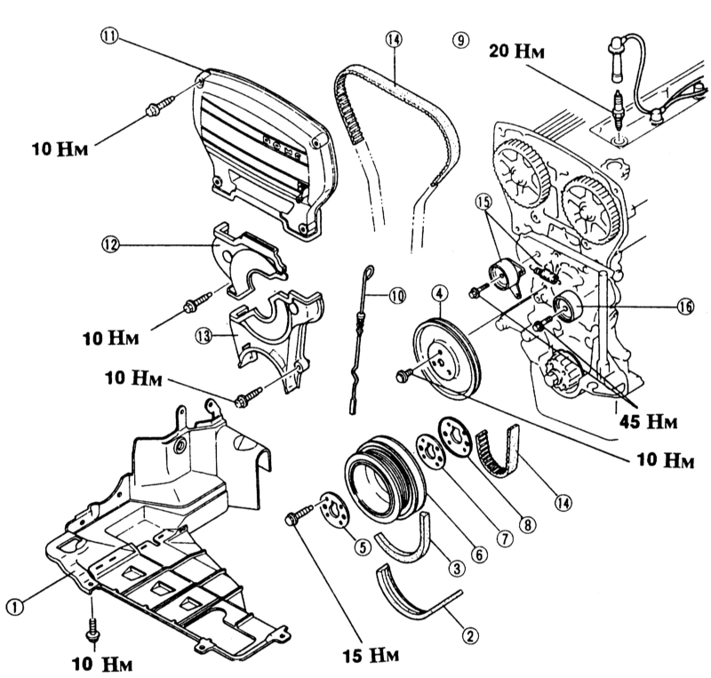 3 — клиновой ремень генератора