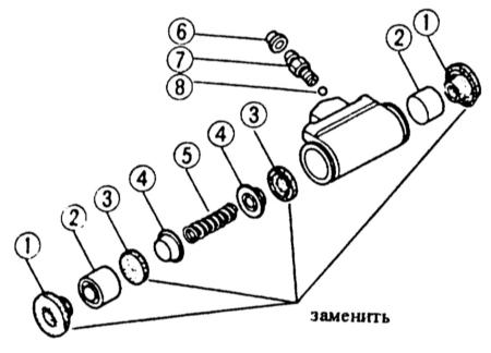 13.10 Ремонт колесного тормозного цилиндра