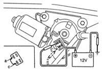 15.4  Проверка мотора стеклоочистителя