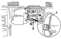 16.3  Снятие и установка вентилятора отопителя