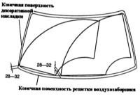 16.24 Снятие и установка рычагов переднего стеклоочистителя