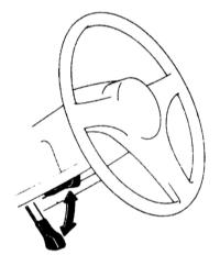 17.10  Регулировка высоты рулевого колеса (если имеется)