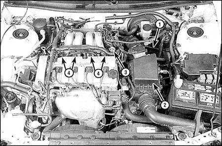 5.3.1 Система питания (двигатели 2,0 и 2,5 л)
