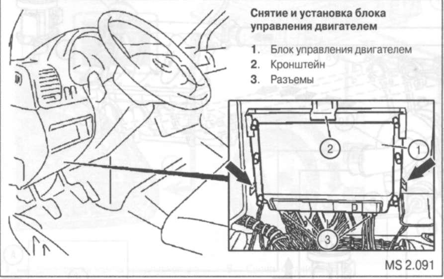 4.1.16 Снятие и установка блока управления двигателем