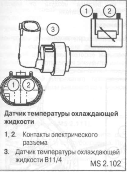 Установка датчика температуры охлаждающей жидкости