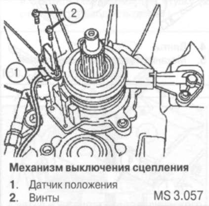 5.3.6 Датчик положения механизма выключения сцепления