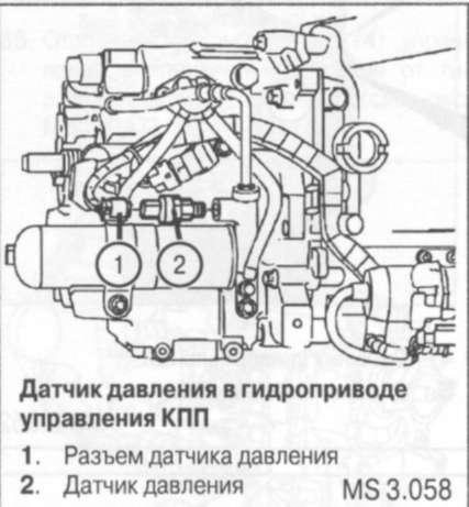 5.3.7 Датчикдавления в гидравлическом приводе управления КПП