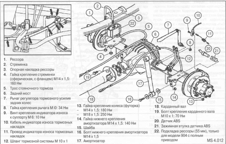 Тормозная система спринтера схема