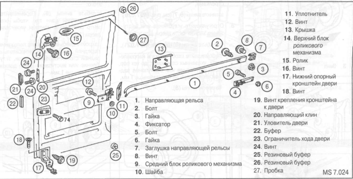Схема двери мерседес спринтер
