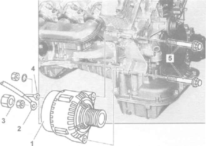 12.2 Снятие и установка генератора