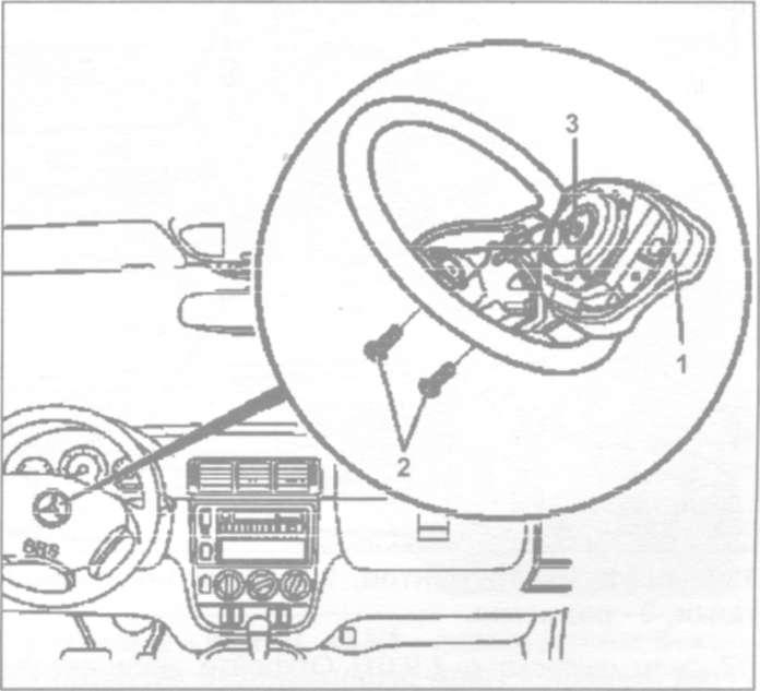 24.5 Снятие и установка подушки безопасности водителя