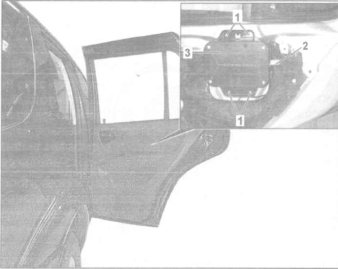 24.8 Снятие и установка боковых подушек безопасности в задних дверях