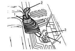7.2.4 Снятие и установка рычага переключения передач