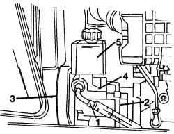 11.6 Снятие и установка насоса гидроусилителя