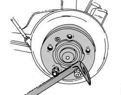 12.5.2 Снятие и установка переднего тормозного диска