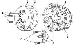 13.3.5 Замена щеток и регулятора напряжения генератора