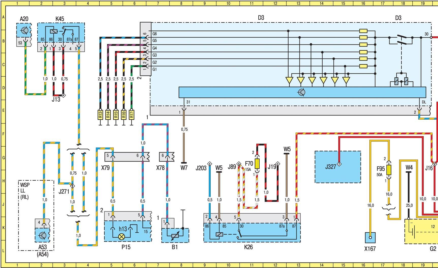 электросхема мерседес w140