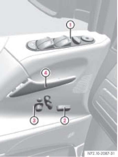 1.4 Потолочная блок-панель управления Mercedes-Benz Vito