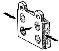 10.1 Проверка и замена колодок дисковых тормозных механизмов