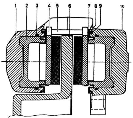 10.2 Снятие, разборка и установка тормозной скобы