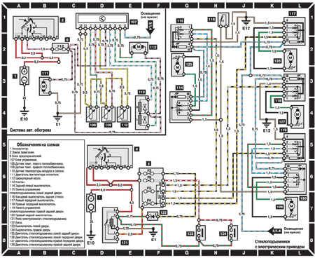 26.25.8 Cистема отопления, стеклоподъемники  с  электрическим приводом