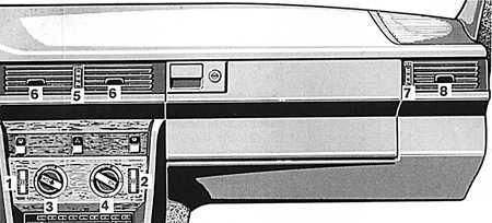 1.6 Отопление и вентиляция Mercedes-Benz W124