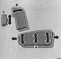 1.15 Регулировка положения переднего сидения с электроприводом
