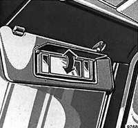 1.31 Солнцезащитные козырьки Mercedes-Benz W124