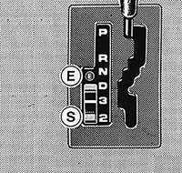 1.39 Переключатель режима работы автоматической коробки передач