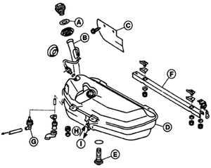 11.10 Топливный бак Mercedes-Benz W124