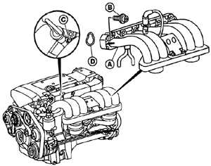 12.11 Впускной коллектор Mercedes-Benz W124