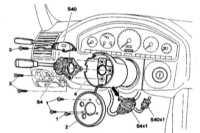 13.5 Снятие и установка комбинированного подрулевого переключателя