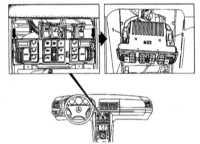 13.11 Снятие и установка кнопочной панели управления кондиционером (модели   по 31.08.95 г. вып. с блоком управления «Bosch»)