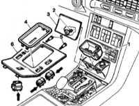 13.14 Выключатели центральной консоли - детали установки