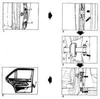 13.21 Задние двери - детали установки