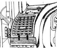 13.34 Дефлекторы воздуховодов панели приборов - детали установки