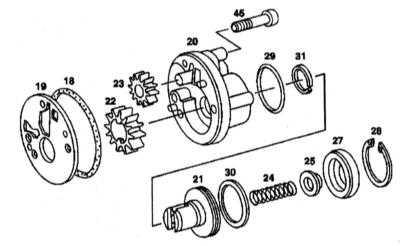 9.3.5 Снятие, обслуживание и установка вторичного насоса (АТ до №3652931)