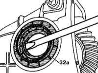 10.4.2 Разборка и сборка редуктора главной передачи и регулировка зазоров   шестерен Mercedes-Benz W140