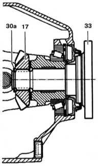 10.4.4 Проверка и регулировка зазора фланца Mercedes-Benz W140