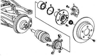 10.3.4 Снятие и установка фланца приводного вала и радиально-упорного шарикового   подшипника