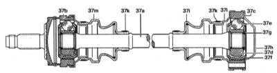 10.3.3 Снятие и установка ШРУС приводных валов и их защитных чехлов