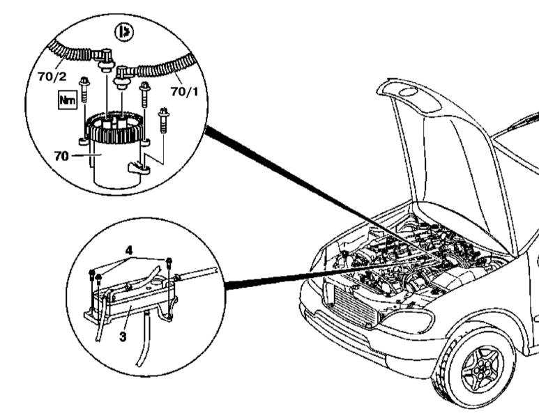 Схема топливного фильтра мерседес