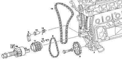 4.8 Снятие и установка компонентов привода ГРМ