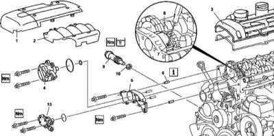 4.22 Снятие и установка крышек привода ГРМ