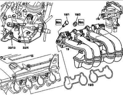 4.13 Снятие и установка впускного трубопровода