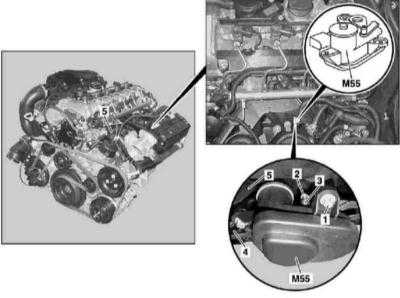 4.29 Снятие и установка электромотора отключения впускного порта (двигатель серии 612)