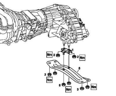 4.18 Снятие и установка опор подвески силового агрегата
