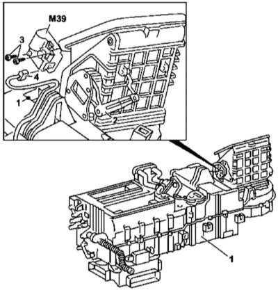 5.16 Снятие и установка шагового электромотора привода заслонки переключения режимов циркуляции воздуха