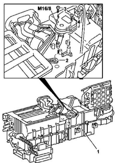 5.17 Снятие и установка электромотора привода смесительной заслонки Mercedes-Benz W163